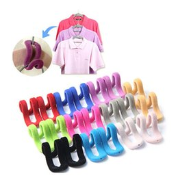 Wholesale Flocking Packing - Wholesale- 10pcs Pack Travel Flocking Multi-function Pile Coating Colors Magic Hook Hanging Mini Hook for Clothes Organization Random Color
