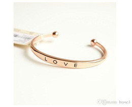 Wholesale party outlets - Factory Outlet Europe and the United States hot jewelry jewelry environmentally friendly materials bracelet simple love opening alloy bracel