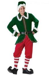 2017 Yeni Varış Artı Boyutu Yetişkin Erkek Noel Baba Noel Baba Kostümleri Takım Noel Hediye Üniforma Kıyafet supplier santa suits nereden santa takımları tedarikçiler