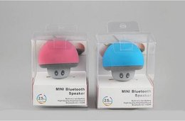 Wholesale Wholesale Speakers Subwoofers - New type cartoon Mashroom Mini Bluetooth Speaker Portable Outdoor Subwoofers Loudspeaker For iphone tablet pc with Stand Holder and Sucker