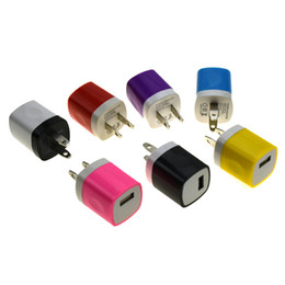 Wholesale Cell Phone Wall - USB Wall charger US Plug Home Travel Charger AC Adapter for cell phones 100pcs