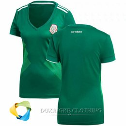 Wholesale Jersey Tops For Women - DHL free TOP THAI Quality 2018 Mexico Women Home world cup soccer Jersey shirt for men quick-dry BEST QUALITY