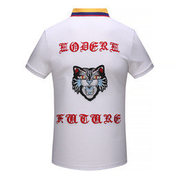 Wholesale Camisa Casual Slim Fit - Luxury Men T Shirt Brand Designer Plus Size Slim Fit Embroidery T Shirts Homme Short Sleeve Mens Brand Clothing Camisa Masculina Hot