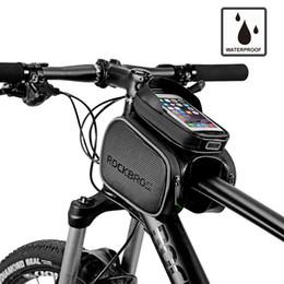 zelle mtb Rabatt Radfahren Bike Top Tube Tasche regendicht MTB Fahrradrahmen Front Head Handy Touch Screen Tasche Pannier Bike Zubehör