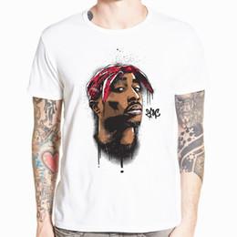 4865162d9f Hecoolba 2017 Men's print tupac 2pac T-shirt Short sleeve O-Neck White  Tshirt Hip Hop Swag harajuku Streetwear T shirt HCP287