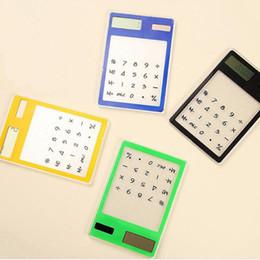 2019 pantalla táctil más delgada Calculadora Solar Papelería Creativa Lindo Mini Mano Ultra Delgado Calculadoras Portátiles Energía Solar Pantalla Táctil Transparente ZA5572 pantalla táctil más delgada baratos