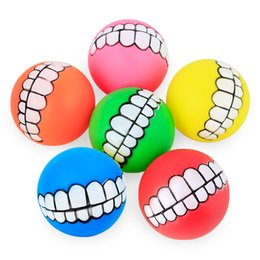 Wholesale Dog Toys Balls - Hot Sale Funny Pets Dog Puppy Cat Ball Teeth Toy PVC Chew Sound Dogs Play Fetching Squeak Toys Pet Supplies
