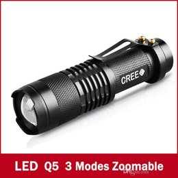 Wholesale Mini Self Defense Flashlight - 2016 Special Offer 2000lm Led Flashlights Hike Self Defense! Mini Flashlight Three Dimming Gifts Telescopic Zoom Led Lumens Free Shipping