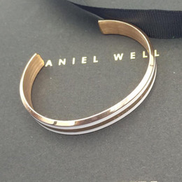 DW браслет классический манжеты открыть браслет новый 316L из нержавеющей стали регулируемые часы классические ювелирные изделия с коробкой от