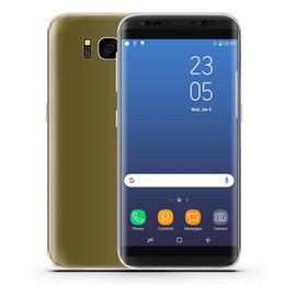 Wholesale random gold - Unlocked Goophone S9+ S8 8 plus android cell phone MTK6580 Quad Core 1+8g show Octa core 4G RAM 64G ROM shown 4G LTE 2560x1440 3G smartphone
