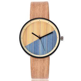 Orologio da polso in pelle vintage imitazione legno vintage donna LXH supplier watches imitation da guarda l'imitazione fornitori