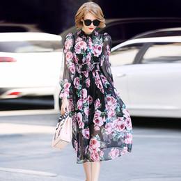 vestito da festa rosso delle donne Sconti Truevoker Spring Designer Vestido  Colletto a manica lunga da 9a4467d012a