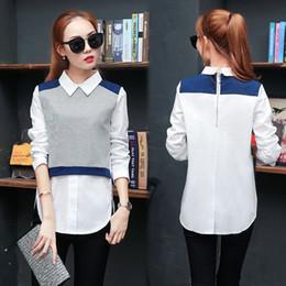 Wholesale White Blouse Peter Pan Collar - 2018 spring kimono elegant women body blouse and tops ladies Long sleeve peter pan collar plus size shirt blusas camisetas mujer
