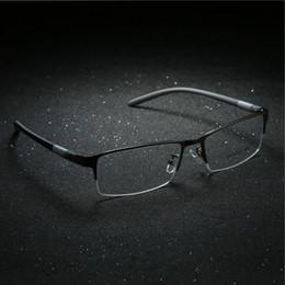 adde401ec9 2018 New Arrival Men Style Titanium Alloy Half Rim Eye Glasses Fashion  Design Men s Eyeglasses Casual Optical Frame for men discount alloy rims