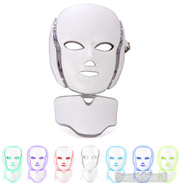 Wholesale Facial Uses - PDT Light Therapy LED Facial Mask With 7 Photon Colors For Face And Neck Skin Rejuvenation LED Face Mask With Microcurrent Personal Home Use