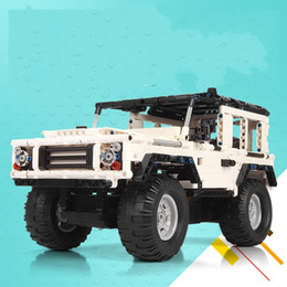 Wholesale Toy Buggy Car Electric - Remote Control Car Building Blocks Off Road Vehicle Buggies Assembling DIY Toys Charge Boy Learning Education Child Gift 107jg V