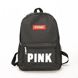 8457e4b733 New Pink Letter designer backpack women Ladies sac a dos School Backpack  High quality Oxford Back pack Bags For Girl Drop Shipping
