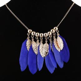 287774706dad Al por mayor- Collar de plumas de colores para mujeres Vintage flor tallada  collares declaración colgantes granos africanos étnicos Bisutería wholesale  ...