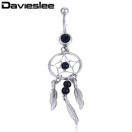 Wholesale Sexy Belly Bars - Womens Girls Sexy Feather Bar Navel Belly Button Ring 3 Colors Rhinestone Piercing Body Jewelry LNR15