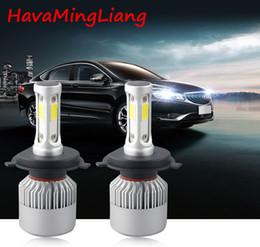 luz de tejadilho de emergência âmbar 12v Desconto Farol principal S2 H4 H7 H1 COB lâmpadas de farol de LED H11 H13 12V 9005 9006 H3 9004 9007 9012 72W 8000LM carro LED lâmpada de luz de trabalho de nevoeiro
