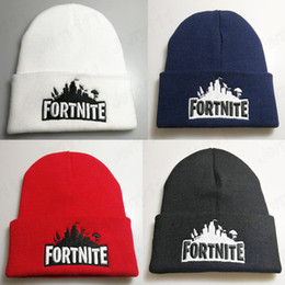 Sombreros de punto online-Nuevo deporte de invierno fortnite juego sombrero gorra de hombre gorro de punto Hip Hop sombreros de invierno para adolescente moda caliente s Bonnet LE72