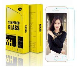Vidro i6 on-line-9 h 2.5d filme de vidro temperado para i7 8 além de tampa da tela frontal do protetor para i6 6 s plus 5 se 100 pçs / lote