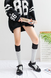 Wholesale Pattern Socks - 3 pairs lot Fashion Women Socks White Coffee Color Adult Stockings High Quality cotton letter pattern Socks GG