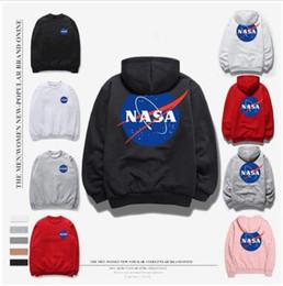 Wholesale pullover black jacket for men - 2018 NASA Hoodie Streetwear Hip Hop Sweatshirts fashion American Flag Coats Jackets Hoody Hoodies Sweatshirts For Men and Women lovers