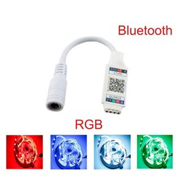 2019 bluetooth lumière intelligente Contrôleur Bluetooth WiFi Mini RGB Contrôleur de musique Bluetooth Smart Music Controller Smart Light Controller pour 5050 RGB LED Strip DC5-24V bluetooth lumière intelligente pas cher