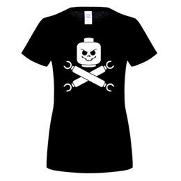 Wholesale Bones Tee Shirts - Graphic Mens Tee Shirt 2017 New Lego Skull And Cross Bones - Pirate Parody Premium T Shirt Mens Summer Graphic T-Shirt For Men