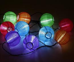 Linterna solar para decoración. online-Festival Lantern string LED Festival Decoración Jardín Solar Lantern string