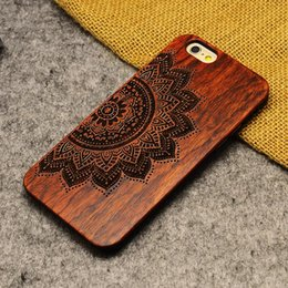 Wholesale engrave wood cover - Luxury Wooden Bamboo & PC Bumper Cell Phone Case Engraved Wood Cover For Samsung S8 Plus S7 Edge Note 8 & Apple Iphone X 8 7 Plus 6s 6 Plus