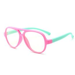 2018 новая мода анти синий свет силиконовые гибкий материал очки мальчики девочки Детская рамка глаз оптические рамы производители в Китае supplier children light frame glasses от Поставщики солнцезащитные очки для детей