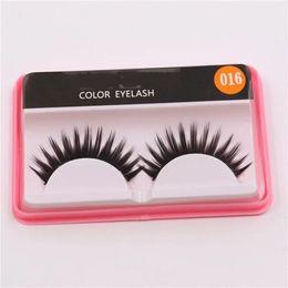 Wholesale Eyelash Extensions Color - Hot Sale Brand False Eyelashes Handmade Natural Long Curl Thick Fake Eye Lash Extensions Black Color Eyelash Eye Makeup Reusable Lashes