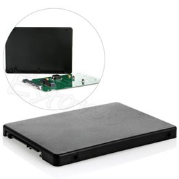 """Mini hdd on-line-HDD Eficiente E Rápido Mini Pcie MSATA SSD para 2.5 """"Cartão Adaptador SATA3 Com Caixa"""