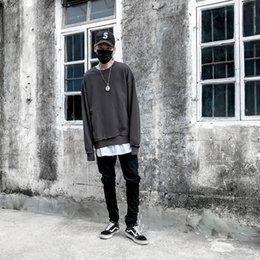 Wholesale Korean Sweats - New hot Hoodies Sweatshirts korean fashion pullover men clothing OVERSIZE hip hop sweat drake kanye west clothes sweatshirt