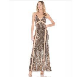 153518dd8 Vestidos de fiesta de dama de honor de lentejuelas sexy 2018 Vestidos de  noche sin respaldo Vestidos de fiesta formal largo Moda de estilo europeo  para ...