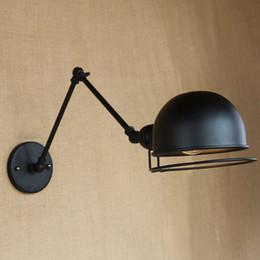 Lampe murale vintage à bras oscillant en Ligne-RH loft E27 applique murale bras mécanique france Jielde applique murale rappelé rétractable double vintage Wall Swing Arm Light