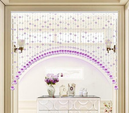 Wholesale Finish French - Customized Bead curtain decoration living room entrance arch finished half curtain