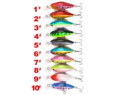 cuerpos de señuelos de agua salada Rebajas Venta caliente Cebos de pesca 7 cm / 8.1g Pro Beros Laser Minnow señuelos de pesca 10 colores aparejos de pesca envío gratis
