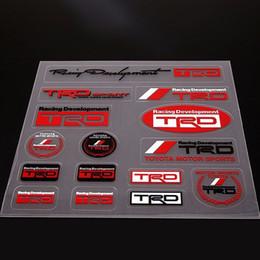 Motorkörperaufkleber online-Erweiterte Qualität Auto Aufkleber Motor Racing Entwicklung Logo Aufkleber für Toyota TRD Kostenloser Versand