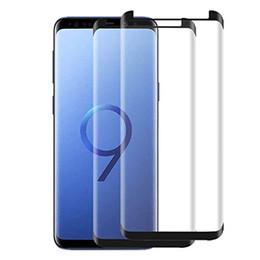 Verre trempé samsung galaxy retail en Ligne-Verre Trempé Respectueux Des Cas Pour Samsung Galaxy S9 S9 + Note 9 8 S8 S8 + Plus S7 Bord 3D Protecteur D'écran De Téléphone Incurvé Avec Boîte De Détail