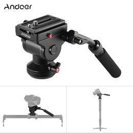 sony action Rebajas Cabezal fotográfico panorámico con cabeza de trípode de aluminio de Andoer con cámara de movimiento y fluidos para la cámara réflex digital Canon Nikon de Sony