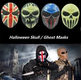 2019 volle zombie-masken Halloween Masken Zombie Schädel Maske Personalisierte CS Full Face Skeleton WarriorGame Maske Scary Ghost Maske Party Masken I310 günstig volle zombie-masken