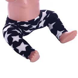 Wholesale Wholesale 18 Inch Doll Accessories - lucky doll Cute Star Pattern Leggings for 43cm New Born Baby Zapf and 18 Inch American Girl Doll Wear n641