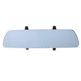 Wholesale Rearview Screen - 5 Inch IPS Screen Car DVR Dual Lens Rearview Mirror 1080P Automobile DVR Mirror Dash cam