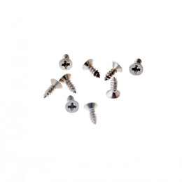 Wholesale fit hinges - Free Shipping-Hot 200Pcs Silver Tone Fit Hinges Flat Round Head Self-Tapping Phillipws Fasteners Hardware 2*6mm Cusp Screws