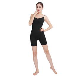Wholesale Gymnastics Wear - Ensnovo Women Ballet Yogo Jumpsuit Wear Sleeveless Running Unitard Costume Lycra Bodysuit Sport Costume Leotard Gymnastics Tight