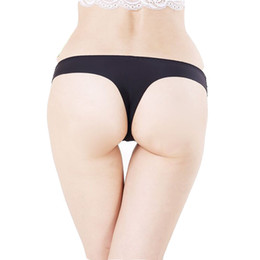 Wholesale White Panties Crotch - Plus Size S-XXXL Underwear Women Panties Invisible Seamless Women T pants Crotch Thongs Tanga Panty Ladies Sexy G-String Briefs