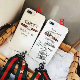 Graffiti alphabet couverture de téléphone pour iPhone 7 7plus 8 8plus 6 6plus 6S TPU silicone coquille souple avec lanière marque de luxe ? partir de fabricateur